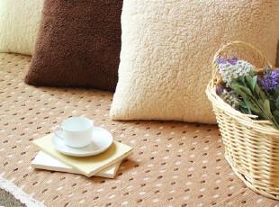美丽说推荐外贸田园棉线宜家坐垫沙发垫沙发巾飘窗垫咖啡鹅卵石,沙发垫,