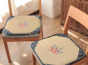日式榻榻米垫 蔺草抗菌草席椅垫 办公室坐垫 餐桌餐椅垫 沙发垫,沙发垫,