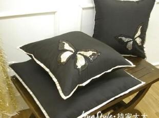〓持家太太〓韩国家居*黑色蝴蝶*韩国坐垫KD10-16,沙发垫,