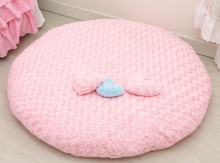 『韩国网站代购』甜美度UP 暖暖的心毛茸茸圆型座垫/蒲团,沙发垫,
