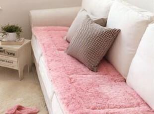 韩国代购 超柔舒适绒绒长条沙发垫/地板坐垫\地垫 三色可选,沙发垫,