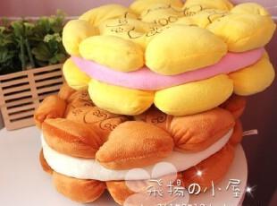 特 超级搞怪滴曲奇夹心饼干坐垫抱枕靠枕 好吃吗~0.6KG,沙发垫,