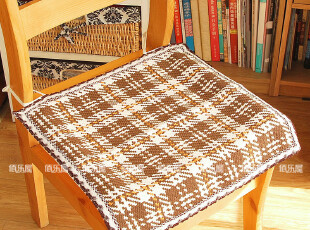 佰乐屋●布艺椅子垫 全棉夏天坐垫 时尚椅垫 简约餐椅垫(咖格),沙发垫,