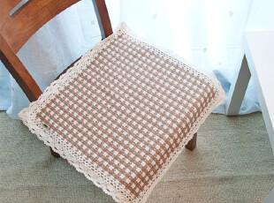 笑笑家居 布艺纯棉编织 坐垫 餐椅垫 椅子垫 花边坐垫 45*45cm,沙发垫,