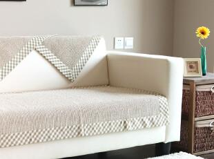 9903 经典欧风 格子边纯棉素色 沙发垫 坐垫 布艺 沙发坐垫 2入色,沙发垫,