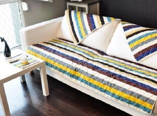 夏季 新品纯棉帆布布艺条纹 沙发坐垫 防滑沙发巾 飘窗垫 沙发垫,沙发垫,