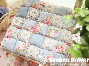 外贸夏季田园座垫椅垫椅子垫坐垫电脑椅馒头垫坐垫餐椅垫蓝玫瑰,沙发垫,