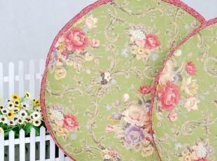 花样时光! 绿色玫瑰大圆坐垫椅垫飘窗垫蒲团垫,沙发垫,