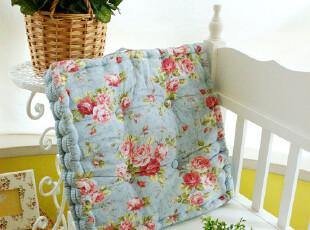 外贸田园加厚胖子垫椅垫飘窗垫餐椅垫榻榻米垫坐垫蒲团垫蓝玫瑰,沙发垫,