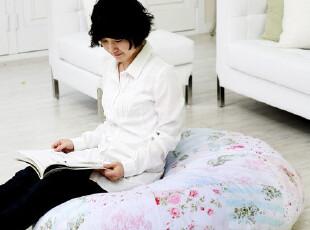 『韩国进口家居』mc-0575 田园碎花圆形居家大坐垫 直径110cm,沙发垫,