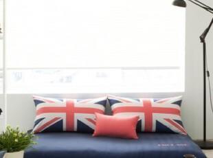 韩国棉质英伦风房席坐垫靠垫飘窗垫套装,沙发垫,