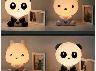 【特】好时达正品 精灵兔熊猫小熊 儿童房卧室语音报时台灯 600,灯具,