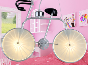 米居灯饰自行车吊灯现代灯儿童灯单车吊灯卡通工程定做卧室房灯具,灯具,