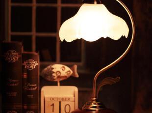 简约欧式 田园可调光 触摸 感应台灯 卧室 床头灯 复古台灯 特价,灯具,