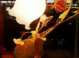 欧式田园创意卧室铁艺床头灯 婚庆婚房台灯 美式台灯时尚结婚礼品,灯具,