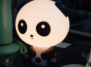 【特】正品好时达功夫熊猫台灯 触摸语音报时闹钟贪睡床头灯600,灯具,