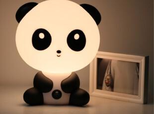 正品报时熊猫触控台灯 儿童卧室卡通台灯 创意时尚可爱熊猫床头灯,灯具,