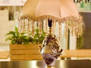 「MAGRACE」布丽蓝特 精致双象浮雕台灯 欧式卧室床头台灯,灯具,