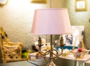 「MAGRACE」莎迈奇 全铜台灯 欧式简约创意卧室床头台灯,灯具,
