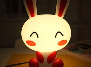 懒角落★创意家居 韩版可爱卡通 兔子兔啦啦 床头台灯夜灯35084,灯具,