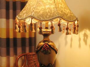 包邮!大号欧式台灯(大号)布艺台灯客厅台灯卧室台灯,灯具,