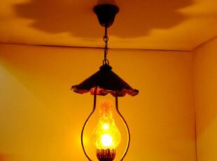 美式乡村吊灯 配老家具复古吊灯 欧式煤油马灯 西部咖啡厅酒吧灯,灯具,