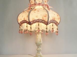 特价 欧式田园蕾丝台灯现代公主房碎花粉红卧室床头台灯 TL8019,灯具,