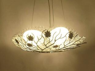 炫彩 简约现代吊灯 鸭蛋灯鸟窝鸟巢创意个性树枝铝线餐吊灯新品,灯具,