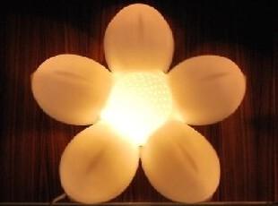 韩版莲花壁灯 创意儿童床头灯 卧室灯书房灯夜灯 简约现代灯饰,灯具,