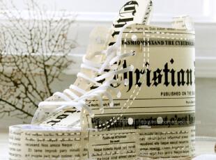 创意装饰品 怀旧复古风报纸创意礼品 法文报纸鞋灯 装饰灯 赠灯泡,灯具,