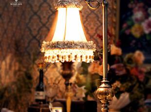 「MAGRACE」苏黎士欧式古典宫廷奢华铜质台灯美式卧室书房台灯,灯具,