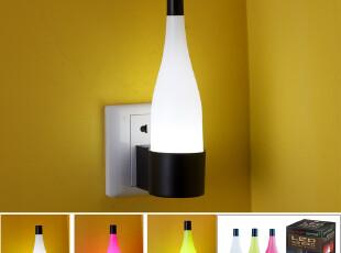 新款 LED创意光控感应小夜灯 节能墙壁灯 卧室床头灯带插头宝宝灯,灯具,