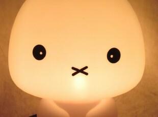可爱创意台灯小兔夜灯兔啦啦灯儿童房床头灯生日礼物(大号),灯具,
