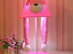 欣兰雅舍 卧室床头灯 布艺创意田园卡通儿童兔子台灯饰 可爱宜家,灯具,