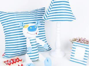 诺小咖 卡通布艺创意台灯 时尚田园儿童房卧室灯床头灯 四件套,灯具,