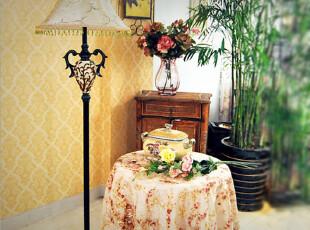 【纪梵希】 欧式现代田园 时尚简约创意客厅卧室落地灯,灯具,