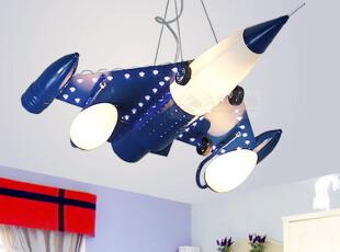 久特现代简约灯饰灯具飞机战斗机创意儿童灯LED卧室灯卡通吊灯,灯具,