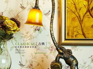[RACEKISH] 东南亚风情 优质环保树脂造型款大象灯,灯具,