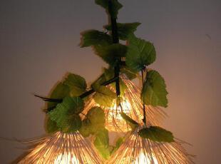 创意田园风格草帽艺术灯具 餐厅灯饰,灯具,