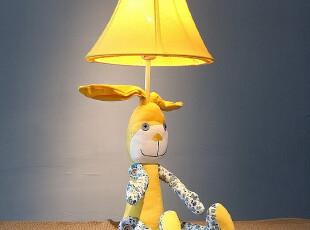 长耳兔布艺台灯 创意可爱卧室床头儿童房生日结婚送礼品物 包邮,灯具,