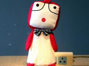 酷鸡创意可爱台灯插墙灯小夜灯壁灯床头卧室儿童房学生生日礼物,灯具,