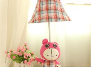 田园创意儿童房卡通布艺卧室床头灯饰安琪熊台灯,灯具,