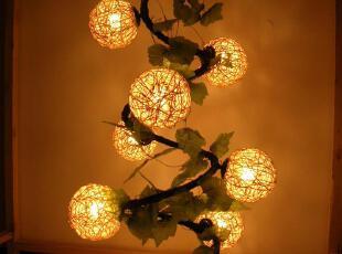田园创意艺术吊灯手工编织藤编吊灯大厅吊灯 客厅吊灯灯具,灯具,