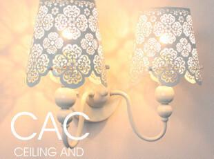 现代简约 田园楼市镂空雕花双头壁灯 卧室灯 客厅灯 灯具 灯饰,灯具,