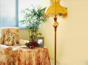 芮诗凯诗圣天尼羊皮灯罩欧式复古落地灯 时尚客厅卧室落地灯地灯,灯具,