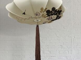 东游记出品/手绘棉亚麻中式吊灯/高品质牡丹图案 预定中,灯具,