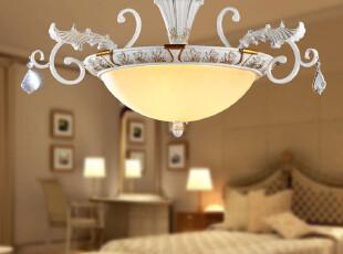 迪莱克斯灯饰 客厅 过道 卧室 书房吸顶灯 欧式白色铁艺18036-3cB,灯具,