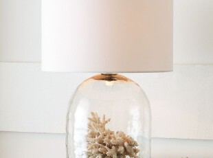 美克美家/美式乡村/北欧宜家/卧室客厅书房玻璃创意台灯,灯具,