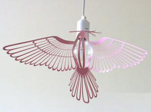 台湾Hommin Bird lamp 小鸟灯罩 粉色 市场价405元,灯具,