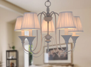 迪莱克斯灯饰 卧室 餐厅 儿童房 吊灯  欧式 铁艺 欧式1888-5H白,灯具,